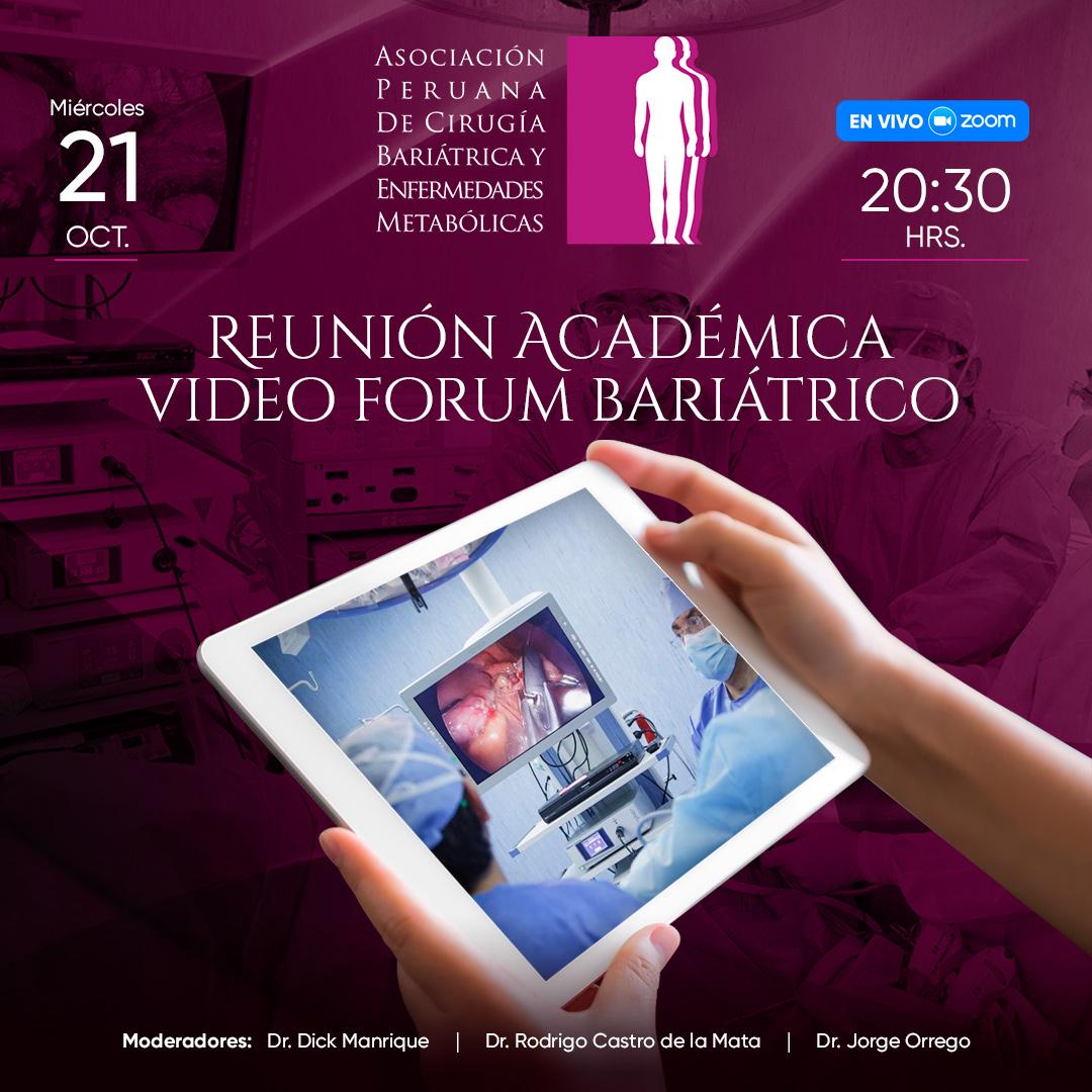 Reunión Académica Video Forum Bariátrico