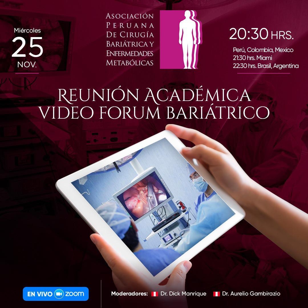 Reuni�n Acad�mica Video Forum Bari�trico