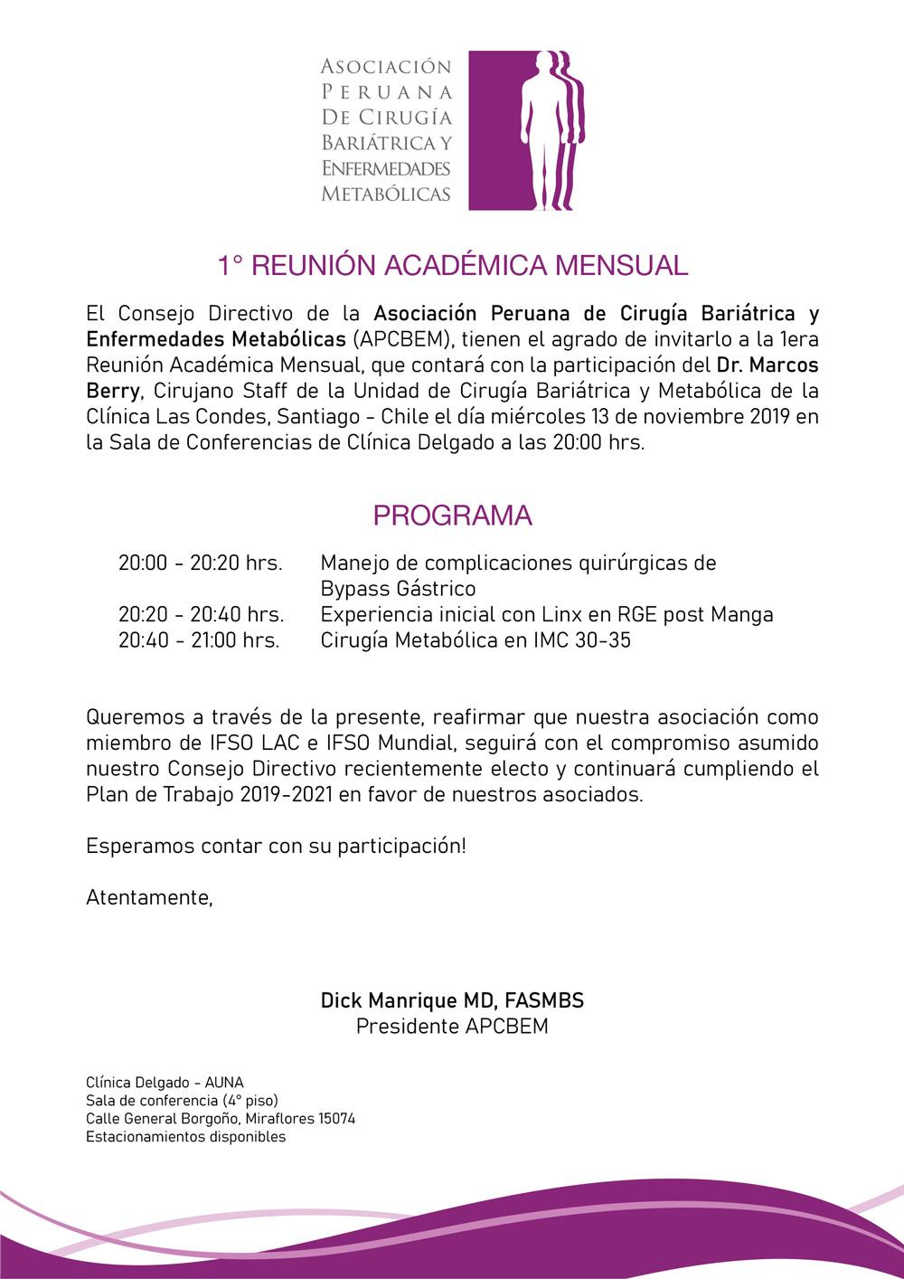1er Reunión Académica Mensual